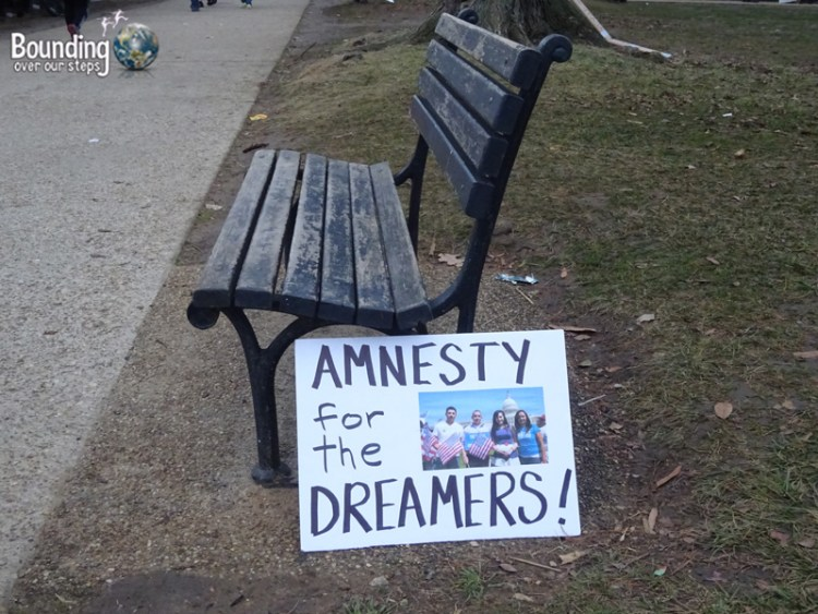 Womens March DC - Amnesty Dreamers Sign