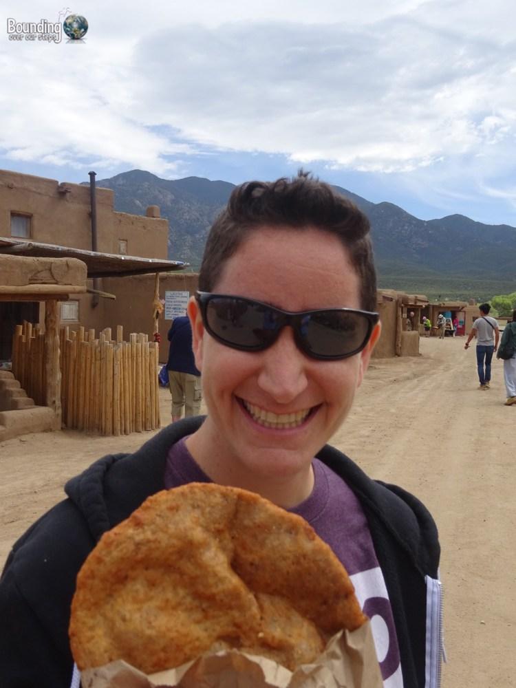 Vegan in Northern New Mexico - Taos Pueblo - Fry Bread