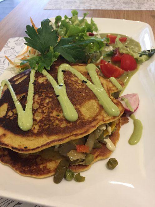 Vegan in Slovenia - Gaudi Vegan Restaurant - Pancake
