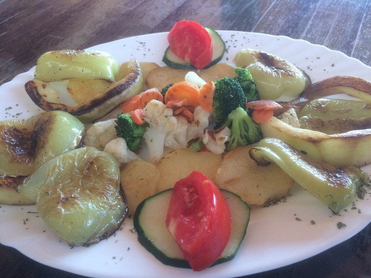 Being Vegan in Bosnia and Herzegovina - Breakfast of grilled vegetables