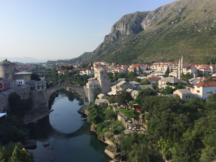 Being Vegan in Bosnia and Herzegovina - View of Mostar
