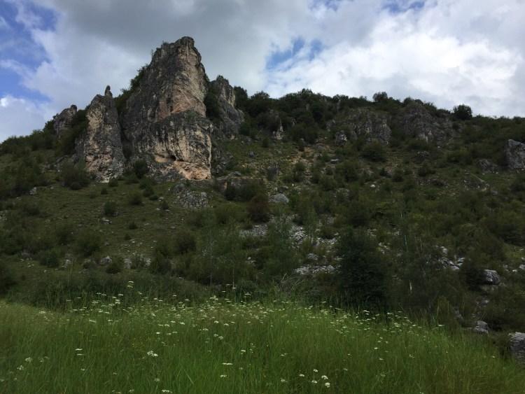 Uvac River Hike - Limestone cliff face