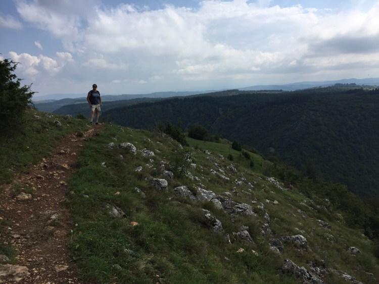 Uvac River Hike - Ligeia on the trail