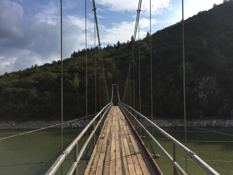Uvac River Hike - Suspension bridge