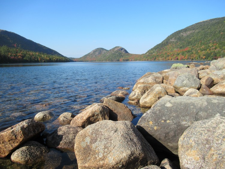 Jordan Pond Acadia National Park - Rocks of Jordan Pond