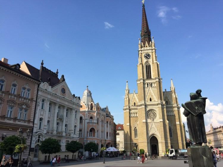 Vegan in Serbia - Old Town Square