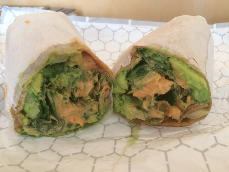 Our Vegan Weekend in NYC - Amazing Avocado Wrap from VLife