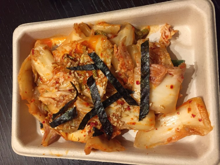 Our Vegan Weekend in NYC - homemade kimchi from Beyond Sushi