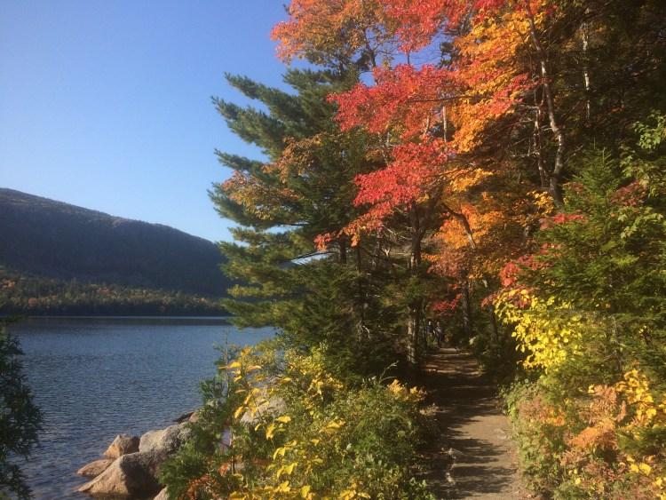 Jordan Pond Acadia National Park - Fall Foliage on Jordan Pond