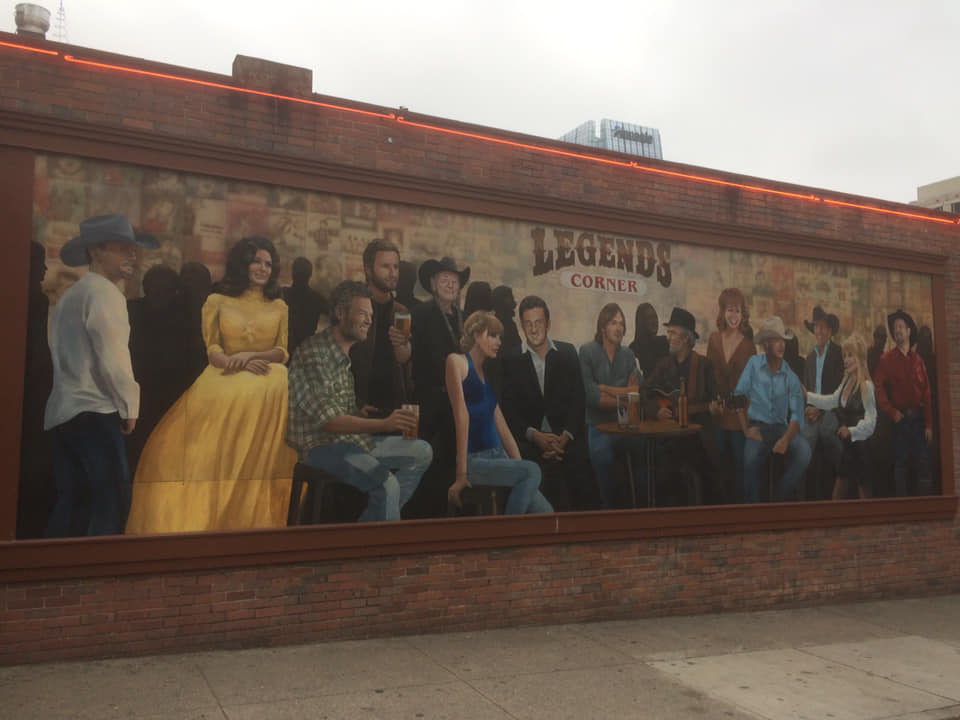 Vegan-in-Nashville-Billboard of Country Music Legends