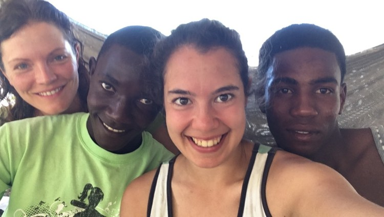 Sarina and friends from Haiti