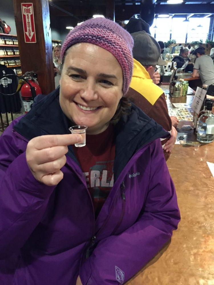 Vegan in Nashville - tasting moonshine