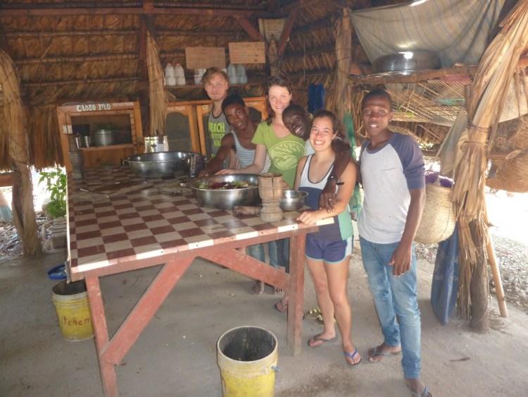 Sarina Farb volunteering in Haiti