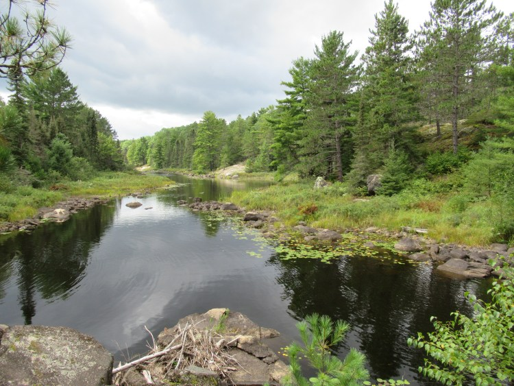 Beautiful view from a portage on Horse River in the Boundary Waters Canoe Area (BWCA)