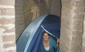 Sleeping in a tent on the Great Wall