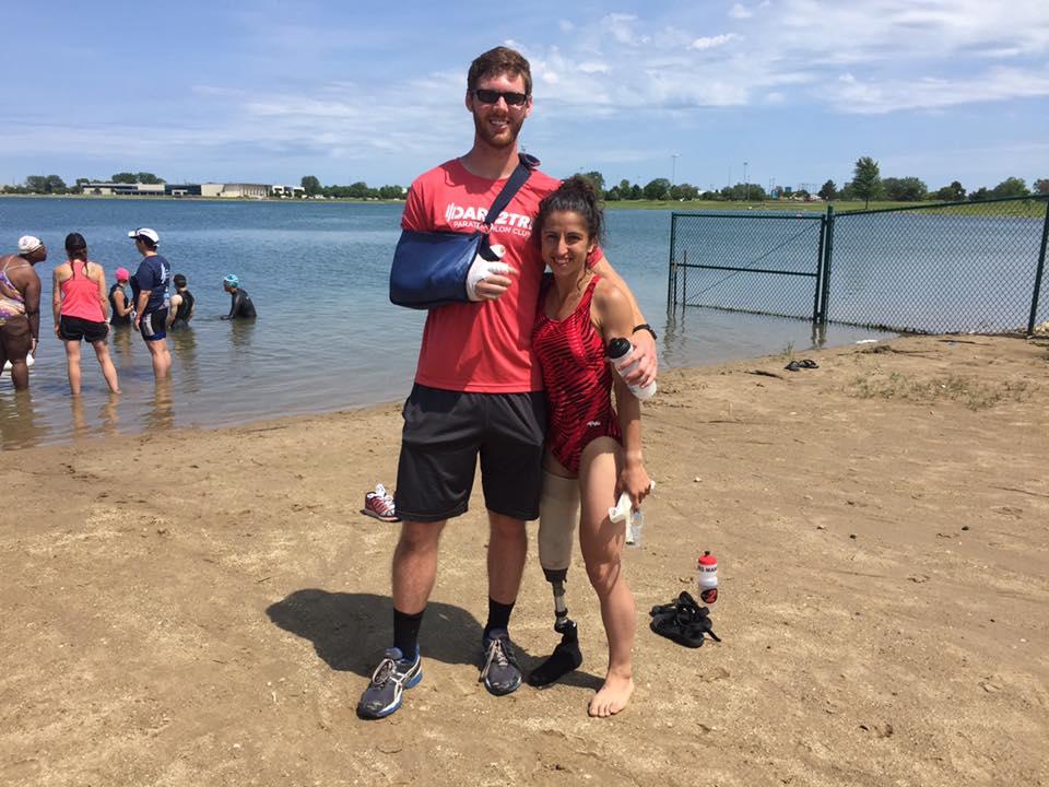 dare2tri triathlon open-water swim Wisconsin Kenosha Boundless Journey