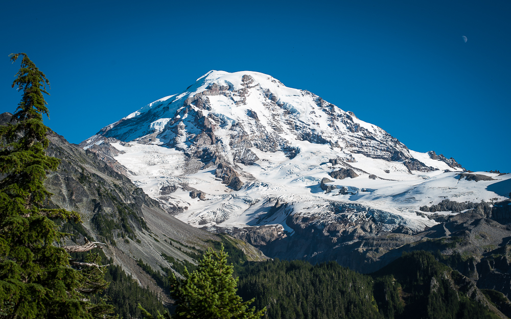 Mt. Rainier from Eagle Cliff National Park Washington Mountain Glaciers Pacific Northwest PNW