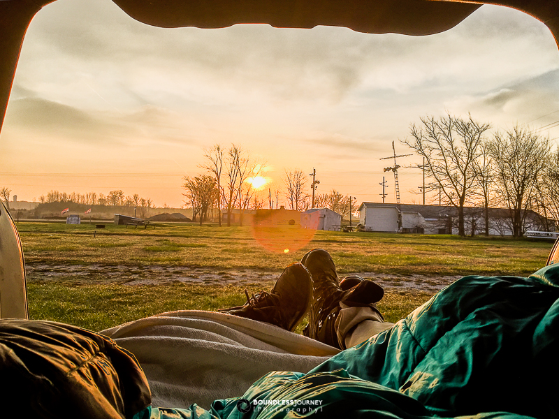 Free camping at a bar in the middle of nowhere. Boundless Journey.