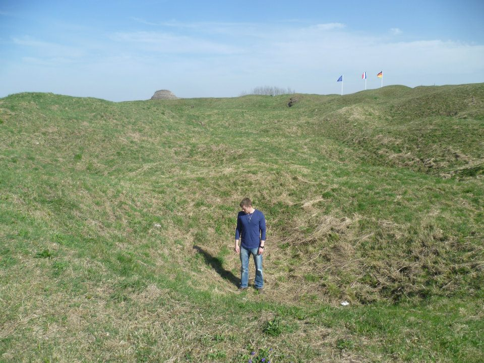 Standing in an old crater