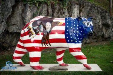 Cherokee Bear U.S. Flag