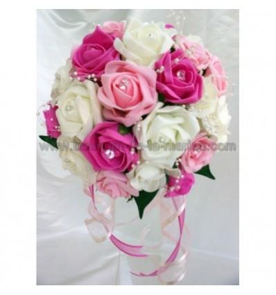 Bouquet De Marie Classique De Couleur Blanc Fuchsia Et