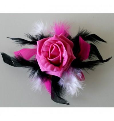 Dcoration Pour Verre Pied Blanc Fuchsia Noir Roses