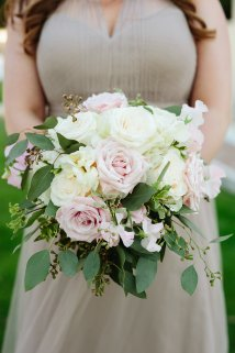 Pastel bridesmaid bouquet.