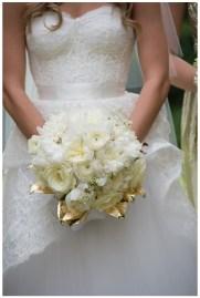 Gold leaf bouquet