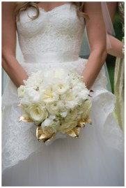 Gold leaf bouquet