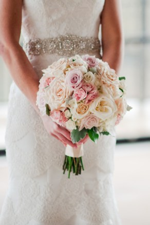 Soft pastels for the bride.