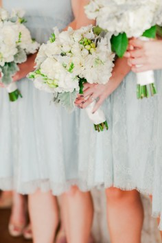 The sweet lace dresses were the perfect backdrop for the collection of all white spring blooms.