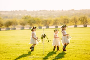 Here come the flower girls.