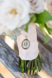Bridal bouquet details.
