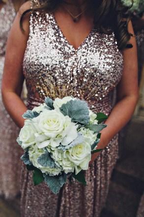 White winter bridesmaid bouquet.