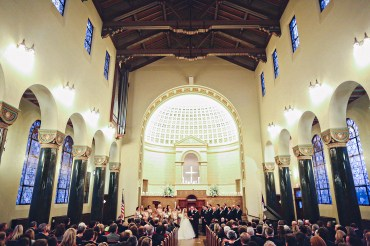 Wedding ceremony at Central Christian Church