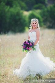Bride with fall flowers