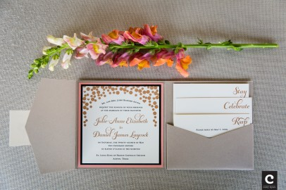 Custom wedding stationary.
