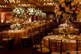 Luxurious Head table in Omni Barton Creek ballroom.