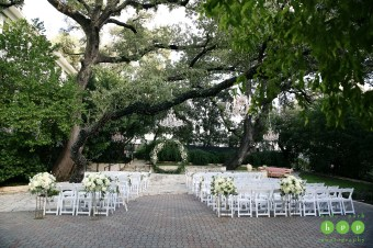 Circle Arch at outdoor ceremony at Allan House