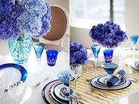 Blue Table Decorations | Bouquet Wedding Flower