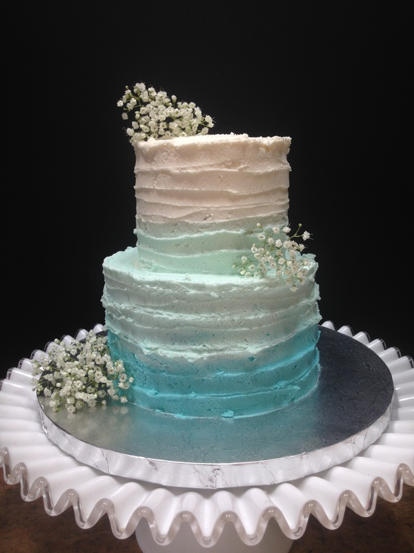 More Than 20 Teal Ombre Wedding Cake Ideas  Bouquet