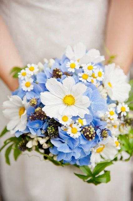 18 Yellow and Blue Bridal Bouquet Ideas for 2017 You Cant