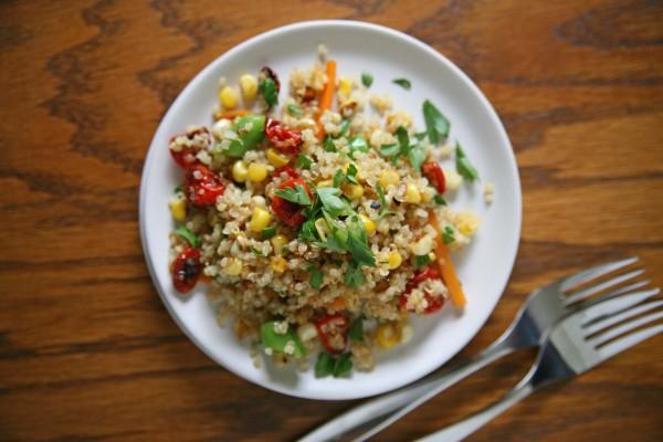 Quinoa Summer Salad | BourbonAndHoney.com