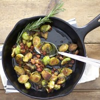 Maple Glazed Brussels Sprouts with Pancetta