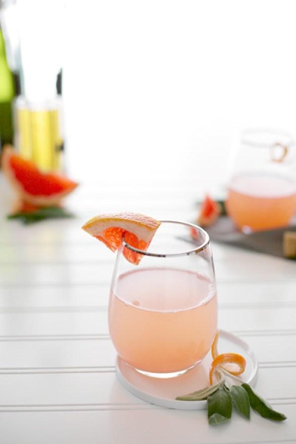 Sage and Grapefruit Mimosa   BourbonAndHoney.com