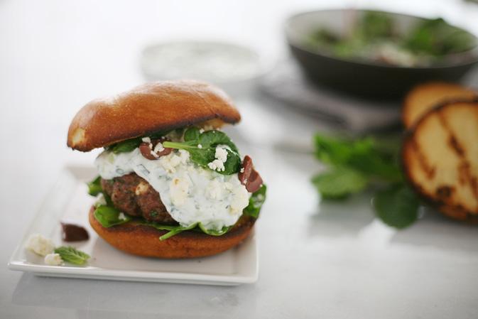 Lamb Burgers with Tzatziki Sauce | BourbonAndHoney.com
