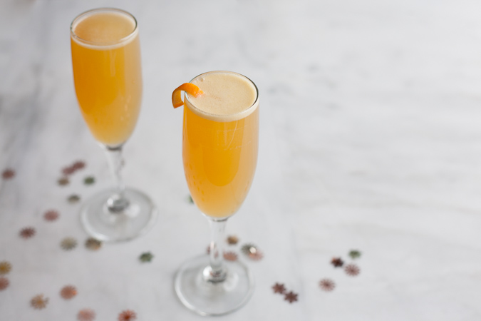 Bourbon and Honey French 75