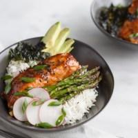 Soy Glazed Salmon Rice Bowl