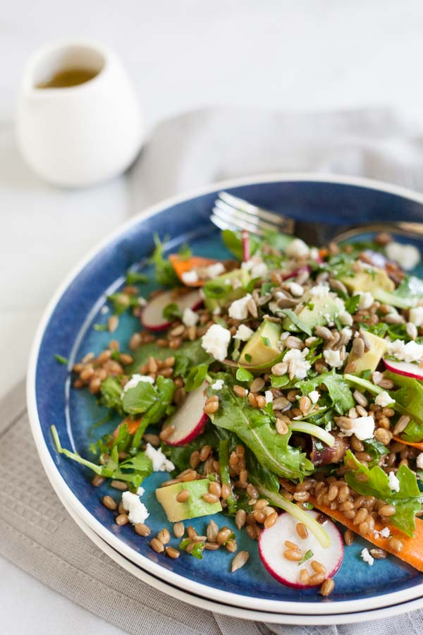 ... berry salad berry salad and wheat berry salad with lemon vinaigrette