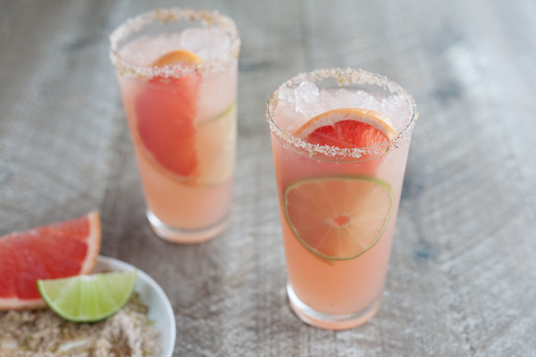 Paloma Cocktail with Chili Lime Salt